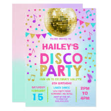 Disco Party Invitations Announcements Zazzle Uk
