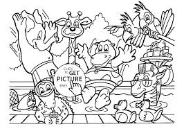 zoo animals coloring pages kids animal forest to color page cute baby