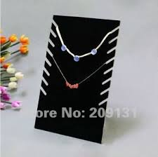 Necklace Stands Displays 100PCS Black Velvet MultiRow Necklace Displays Stands Jewelry 2