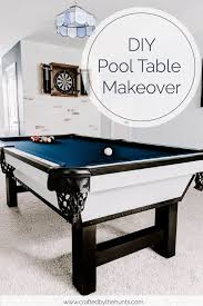 diy pool table makeover crafted by