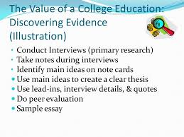 the writer as detective ppt 11 the value of a college education