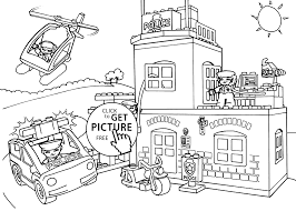 Small Picture Lego police coloring page for kids printable free Lego Duplo