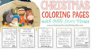 Bible coloring page illustrating john baptizing jesus in the jordan river. Christmas Bible Verse Printables Christian Preschool Printables