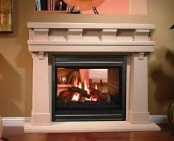 see through wood fireplace