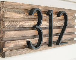 modern house number sign
