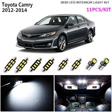 2014 Camry Led Lights Details About 11pcs 5630 Led Xenon White Interior Light Kit Package For 2012 2014 Toyota Camry