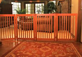 cool wood pet gate extra long 6 panel