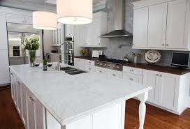 white kitchen countertop material