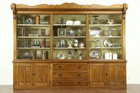 Oak Antique 1870 Store Display Cabinet or Pantry Cupboard, ...