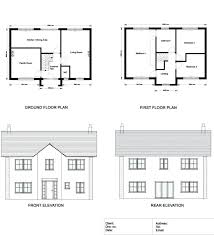 home plan elevation ground floor and first floor plan elevations and sections of a with luxury