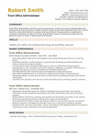 Office Admin Resume Samples Front Office Administrator Resume Samples Qwikresume