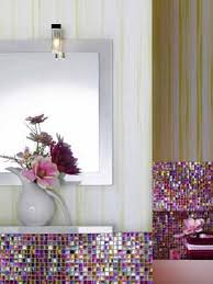 Amazing Colorful Bathroom Accessories With Colorful Peace Signs Colorful Bathroom Decor