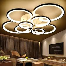 chandelier led rings white finished chanliers circle