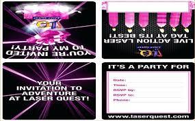 Free Laser Tag Invitation Template Laser Quest Invitations Aplicativo Pro