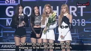 Gaon Chart Music Awards Live Stream Eng Sub Blackpink Winning Speech 8th Gaon Chart Music Awards 2019