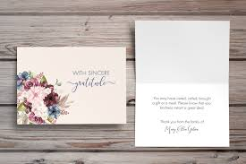 Personalized Sympathy Thank You Cards Funeral Thank You Notes Personalized Sympathy Acknowledgement Cards
