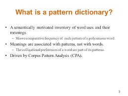What Is Pattern Unique Mapping Meaning Onto Use A Pattern Dictionary Of English Verbs