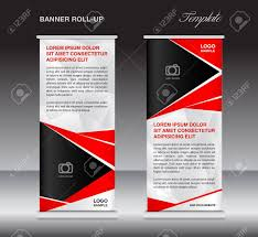 Sample Pull Up Banner Designs Red Roll Up Banner Template Stand Template Stand Design Banner
