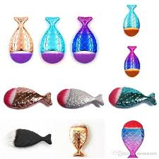 mermaid oval brushes mermaid foundation fish l brush mermaid makeup brushes set beauty cosmetics blush powder brushes free dhl makeup brush set mermaid