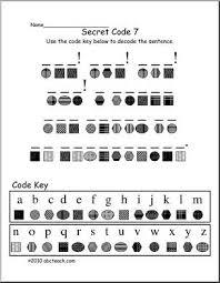 Decoding Secret Code 7 Elem Fun Secret Code Activity Match