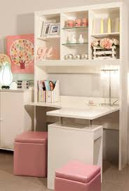 adorable home office desk. Pink Chair And White Corner Office Desk For Adorable Home Design F