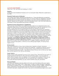 Resume Headings 100 Curriculum Vitae Personal Statement Memo Heading 87