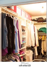closet lighting. Experiment With Different Types And Wattages Of Lightbulbs To Get The Best Lighting For Your Clothes Closet D