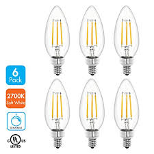tenergy dimmable led candelabra light bulbs 4w 40 watt equivalent warm white soft white 2700k e12 candle base decorative b11 c37 edison bulbs for