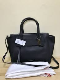 Coach 30149 Bleecker Riley Carryall in Saffiano Leather Bag Black