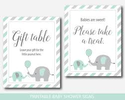 ... Mint baby shower table signs bundle, Mint green baby shower  decorations, BE6-07 ...