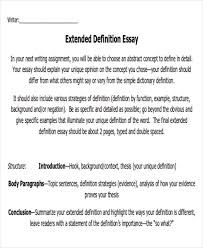 Definition Essays Samples Extended Essay Example 8 Samples In Word Pdf