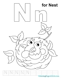 letter n coloring pages for kids c printable