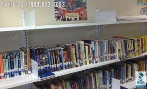 wall mounted library book storage