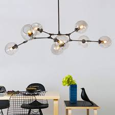 retro loft molecular lindsey adelman irregular glass chandelier ceiling lamp