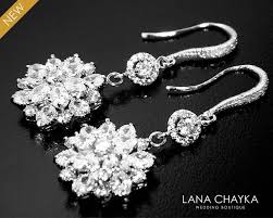 cubic zirconia bridal earrings clear crystal chandelier earrings luxury cz dangle earrings cz bridal crystal jewelry prom crystal earrings 34 90 usd