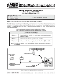 msd 8737 rpm module selector installation instructions jegs