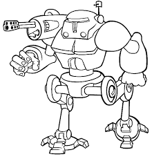 Small Picture Robot Coloring Pages fablesfromthefriendscom