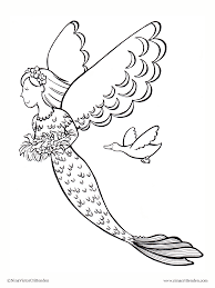 Small Picture Printable Mermaid Coloring Pages For Kids Within Draw Mermaids