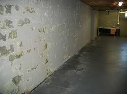 paint ling off of the basement walls