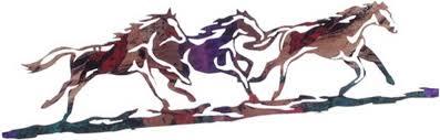 wild horses 24 metallic wall art  on metal horses wall art with wild horses 24 metallic wall art sold out country rustic