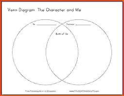 Triple Venn Diagram Diagram Worksheet Graphic Organizer Main Character Blank Triple Venn