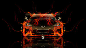 lexus lfa fire car