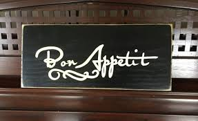 Bon Appetit Wall Decor Plaques Signs Bon Appetit French Country Sign Plaque Wall Decor Kitchen 2