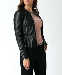 faux leather peplum jacket your session has expired zara peplum frill black faux leather jacket faux