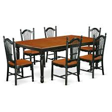 East West Furniture Dove7 Bch W 7 Piece Table And Chair Set With One