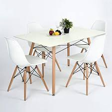 furniturer dining set set of 4 chairs square table modern retro design side chairs desk
