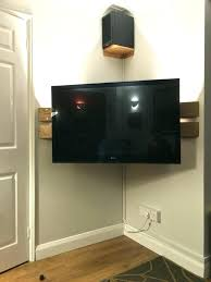 mount ideas corner stand wall designing inspiration best tv bracket with shelf for cable box on