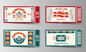 free ticket design template football soccer and baseball ticket design template card