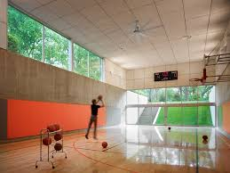 home gym lighting. indoor kids gym home contemporary with basketball court recessed lighting ceiling fan