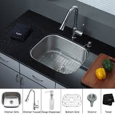 Granite Single Bowl Kitchen Sink Stainless Steel Kitchen Sink Combination Kraususacom